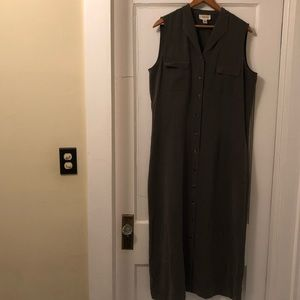 Talbots Sleeveless Collared Shirtdress